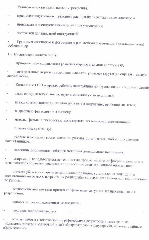 Инструкция фгос воспитателя для должностная по